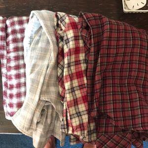 4 women's medium flannels